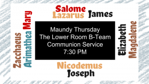 Maundy Thursday - April 2019